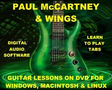 Paul McCartney 270 & Wings 140 Guitar Tabs Software Lesson CD 100 Backing Trax