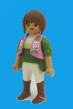 Playmobil J-122 Woman Figure Farm Stables 9401 Horse Rider City Life Dollhouse