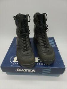 """Bates Mens Spyder Falcon Black Leather Police Security 8"""" Boots"""