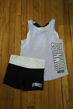 NWT/NWOT Justice girls outfit 2-fer tank top/shorts Gymnast Size 12