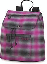 Dakine SOPHIA 20L Womens Casual Backpack Tote Bag Chalet Pink Grey Plaid NEW