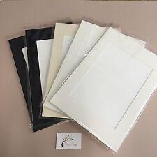 10 x Professional Picture Framing Mat Boards A4 Mount Kits - Window Custom Cut.