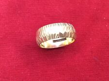 Textured Bark Effect Vintage 9ct gold Wedding Band Ring- 4.49 Grams