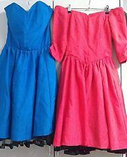 COSTUMES DANCING Women's 2 x Size 8 satin dresses Red Blue Rock'n'Roll Hula