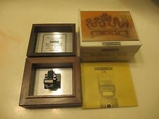 SHURE V-15 TYPE II CART AND GENUINE VN-15E SUPERTRACK STYLUS IN SOLID WOOD CASE