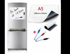 Magnetic Whiteboard Refrigerator Fridge Note Memo Board Dry Wipe 3 Marker Pens