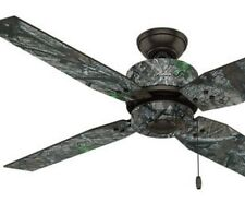 "Large 52"" Camo True Timber Bronze Outdoor Ceiling Fan Cabin Forest Woods Lodge"