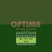 OPTIMA BRONZE 12-STRINGS Akustik Gitarren Saiten SATZ Acoustic Strings SET