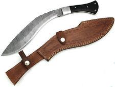 Wild Turkey Handmade Genuine Damascus Steel Gurkha Kukri Knife