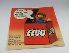 LEGO Building Instruction Catalog 1974