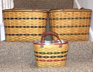 Longaberger Director Boardwalk Basket Set Of 3