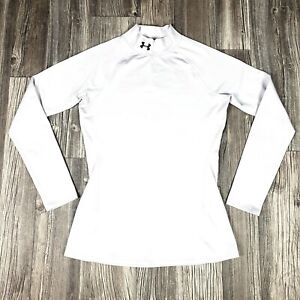 Under Armour UA Coldgear Infarred Thermal Fitted Medium Women White Long sleeve