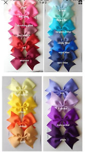 """Lot 6 - Extra Large 7"""" Girls Boutique Hair Bows, U Pick your colors! Hairbow"""
