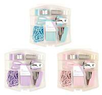 Pastel Mini Stationery 8 Pc School Set Stationary Maths In Clear Plastic Case