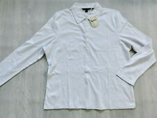 BODEN  white jersey cotton collared top size XL .  NEW. PR074