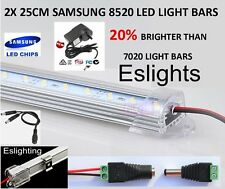 2X 25CM 8520 LED STRIP LIGHT 240V KIT BAR DISPLAY CABINET CAMPING CARAVAN AWNING