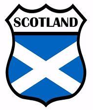 2 x Scotland Shield Flag Decal Car Motorbike Laptop Window Sticker Saltire