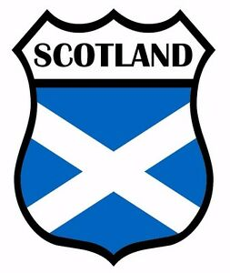 2 x Scotland Saltire Shield Flag Self Adhesive Backed Vinyl Sticker