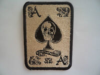 Ace Of Spades Motorcycle Skull Patch Sew On - Iron On Embroidered