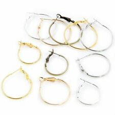 20pcs/lot Circle Hoop Earrings 5 Colors Plated Women Jewelry Round Diy Making