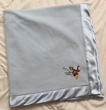 Winnie Pooh Tigger Blue Blanket Follow That Bee Honey Tree Little Friends Silky