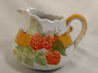 """1978 Signed Hand Painted Small Pitcher CREAM Creamer 4"""" Tall 6"""" Wide"""