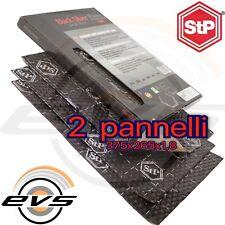 STP Black Silver Insonorizzante Antivibrante Auto 2 Fogli Pannelli 375x265x1,8mm