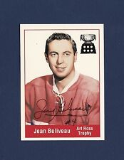 Jean Beliveau signed Montreal Canadiens Art Ross Trophy Parkhurst hockey card