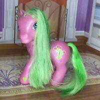 My Little Pony G3 DESERT BLOSSOM 2002 Hasbro Cactus Sparkle Glitter Green Hair