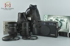 Excellent-!! CONTAX G2 Black + Biogon 28mm f/2.8 + Sonnar 90mm f/2.8