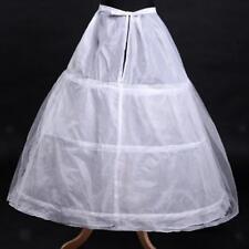 Jupon de Robe 3-Cerceaux Enfant Fille Mariée Crinoline Mariage - Blanc