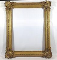 133 x 109 cm Gemälde Bilderrahmen Antique Frame Barock Rokoko Foto Goldrahmen