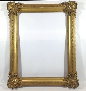 52 3/8x42 7/8in Painting Picture Frame Antique Baroque Rococo Photo Gold