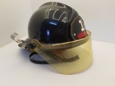 CAIRNS & BROTHER PHOENIX BLACK FIRE HELMET WITH FACE-SHIELD ~USED