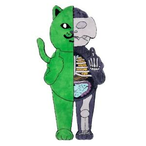RipNDip Nermal Anatomy Rug Green 6ft LE 100 Limited Edition Rare Sold Kaws