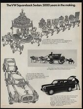 1969 VOLKSWAGEN SQUAREBACK Sedan - VW - 5000 Years In The Making - VINTAGE AD