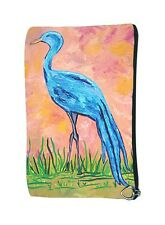 Blue Crane Cosmetic Bag by Salvador Kitti - Support Wildlife Conservation