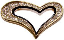 Broche Coeur style Faberge décorée par strass, Cadeau St Valentin Broche COEUR