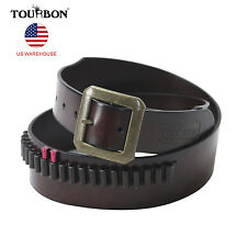Tourbon Grain Leather .17/.22 Caliber Cartridge Bandolier Ammunition Belt in USA