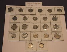 North & Central America 23 countries 23 different coins