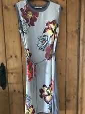 Oasis, grey jersey floral tunic shift dress, size S