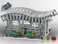 Bahnhof - Zug Train MOC - PDF Bauanleitung - kompatibel mit LEGO Steine