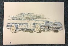 BTCC LABATT'S TEAM FORD SIERRA RS500 Super Touring era Word Art ~ A4 POSTER