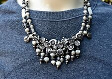Mary Hancock Doug Pearls Sterling The Mummy'S Bundle Necklace Flower Garden