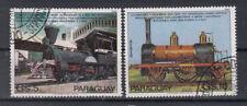 Paraguay Briefmarken 1981 Elektrische Eisenbahnen Flugpost Mi 3365+66 gestempelt
