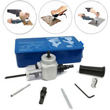 Double Head Sheet Metal Nibbler Cutter Cutting Saw Power Drill Attachment