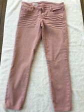Gap Always Skinny Dusty Rose Cropped Jean Sz 28/6r ( 28 Inseam) EUC