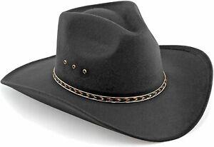 Kid's Cowboy Hat BLACK WESTERN HAT  YOUTH Size 6 SMALL BrandNew 91037