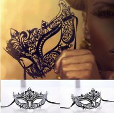 Halloween Masquerade Mask Elegant Metal Laser-Cut Venetian Ball Luxury Mask WE9X