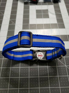 "OMIES Handmade Night Reflective Small Medium Dog Pet Collars 12""-19"" Pink  Blue"